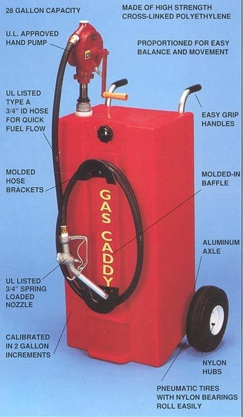 Todd Gas Caddy With Industrial Pump