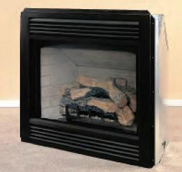 Vanguard gas burning see thru and peninsula fireplaces systems.