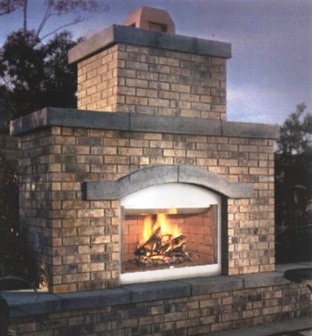 "Vanguard is proud to introduce the new 36"" and 42"" Outdoor Wood Burning Fireplaces."