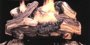 Golden Oak Logs have multicolor log detailing including the realistic look of knots, twigs, and split bark.