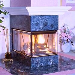 Vanguard Wood Burning See Thru Fireplaces