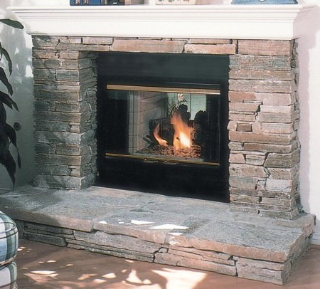 Vanguard wood burning see thru fireplaces for See thru fireplaces